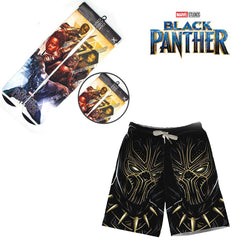 Marvel Avengers Infinity War  Black Panther Shorts+Socks