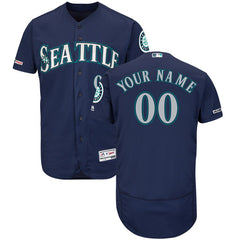 Seattle Mariners Majestic Home Flex Base Collection Jersey - Navy