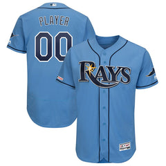 Tampa Bay Rays Majestic Collection Flex Base Jersey – Light Blue