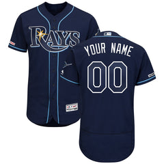 Tampa Bay Rays Majestic Collection Flex Base Jersey – Navy
