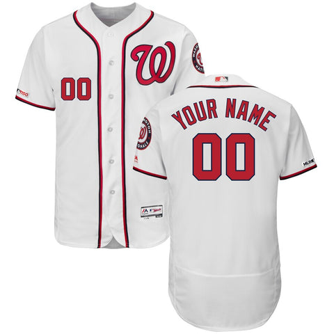 Washington Nationals Majestic Flex Base Jersey - White