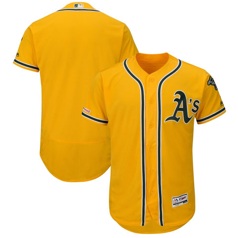 Oakland Athletics Majestic Flex Base Collection Jersey - Gold