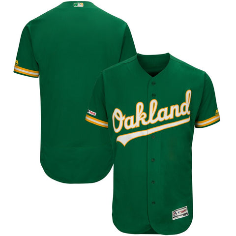 Oakland Athletics Majestic Flex Base Collection Jersey - Kelly Green