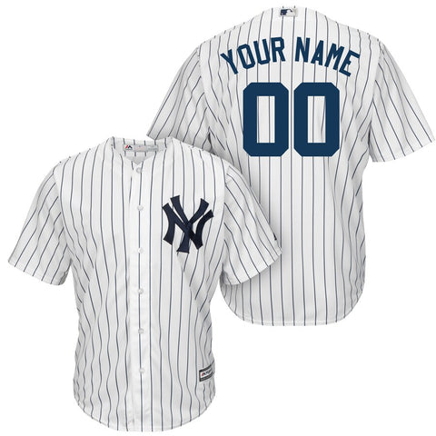 New York Yankees Majestic Cool Base Player Jersey White/Navy