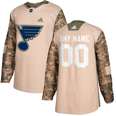 St. Louis Blues Veterans Day Jersey – Camo