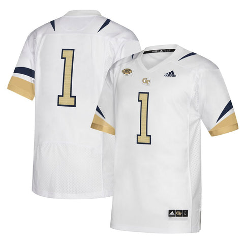 #1 Georgia Tech Yellow Jackets Football Jersey - White
