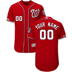 Washington Nationals Majestic Flex Base Jersey - Scarlet