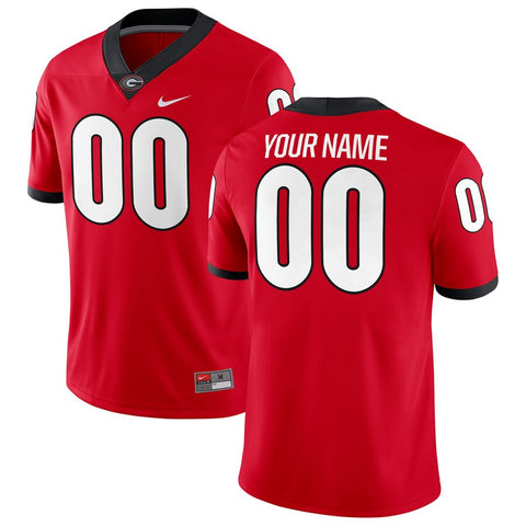 Georgia Bulldogs Personalized Football Game Jersey – Red