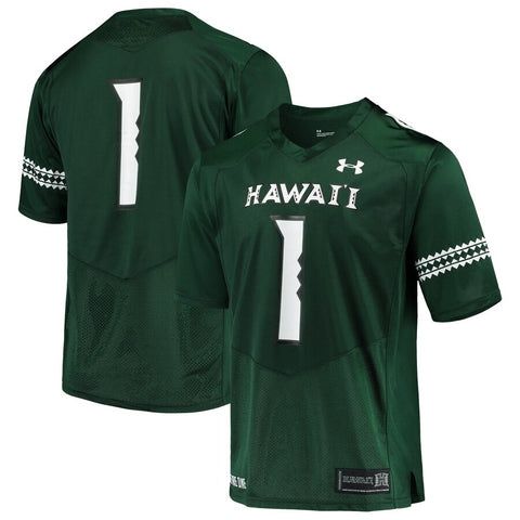 #1 Hawaii Warriors Team Football Jersey – Green