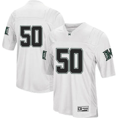 #1 Hawaii Warriors Team Football Jersey – White