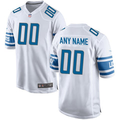 Detroit Lions Team Color Game Jersey - White
