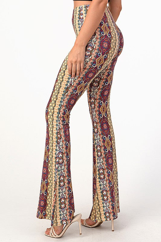 Katrina Bell Pants (Yellow/Mauve)