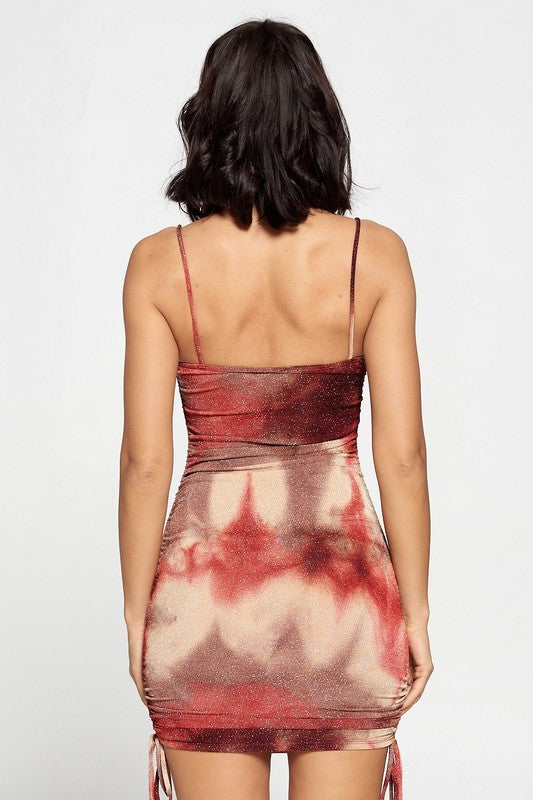 Skyline Views Dress - Burgundy