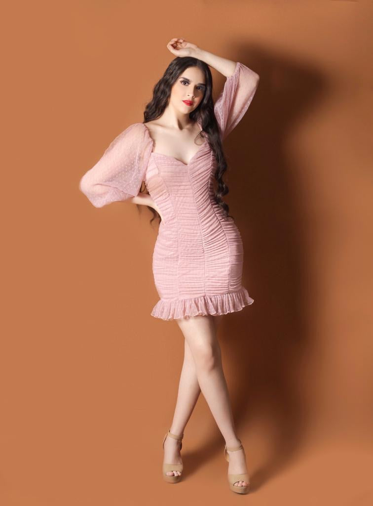 Dos Gardenias Dress - Rose Pink