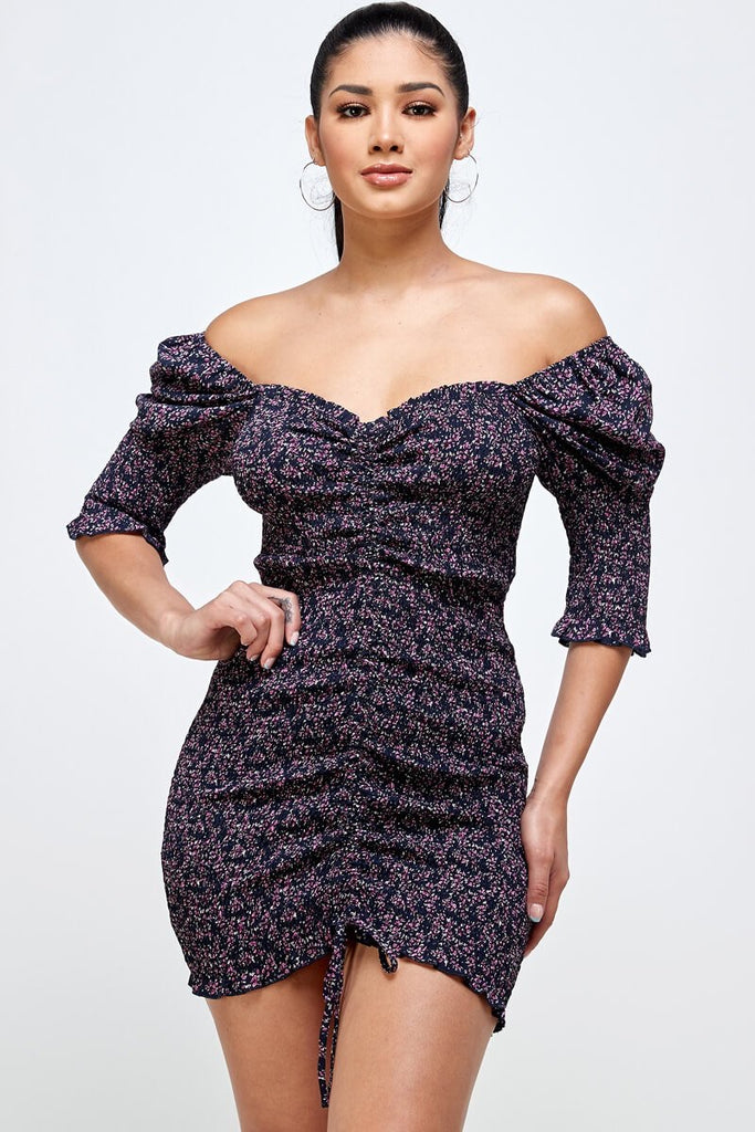 Loira Dress - Navy Blue