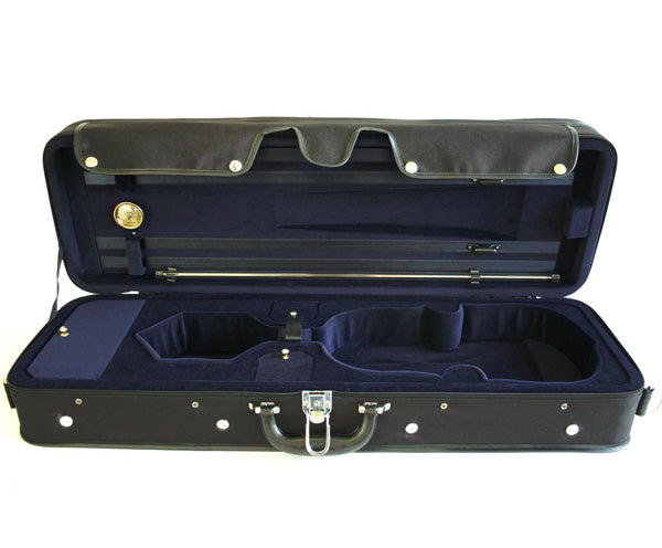 TG Oblong Violin Case Hill Style - Blue/Black  1/4-4/4 - Dalseno String Studio