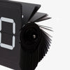Cloudnola Flipping Out Clock - Black and Black