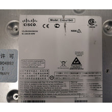 Load image into Gallery viewer, Cisco Router 1941/K9 underside.