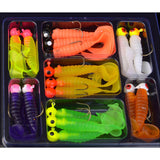 Colorful Soft Worm Lure Set - Lunker Supply