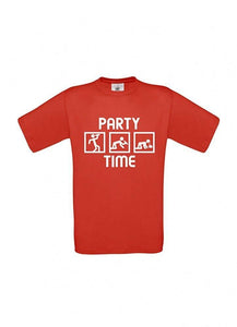 Männer T-Shirt - Party Time - S-XXXL 100% Baumwolle ÖkoTex Handmade