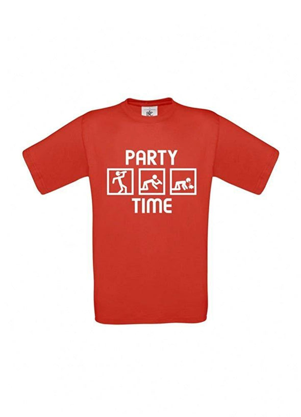 Männer T-Shirt - Party Time - 100% Baumwolle ÖkoTex Handmade - Laake®