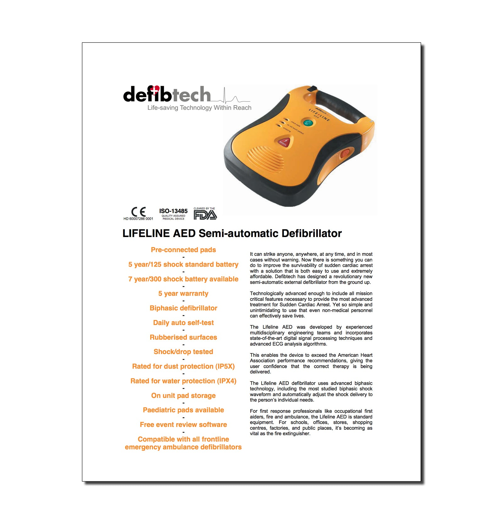 Resources – Defibtech device
