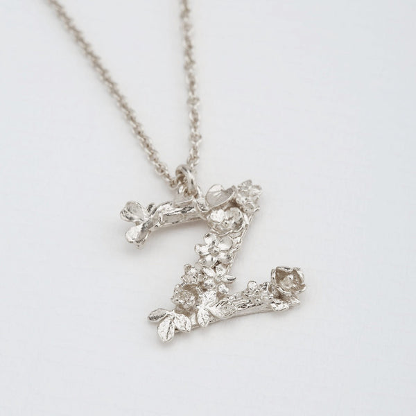 Necklace Silver Floral Z