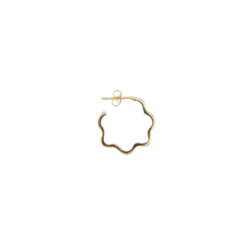 Earrings Gold Floral Alexa