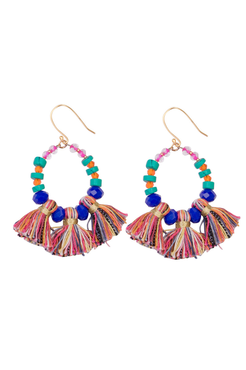 Earrings Multi Fiesta Hoops