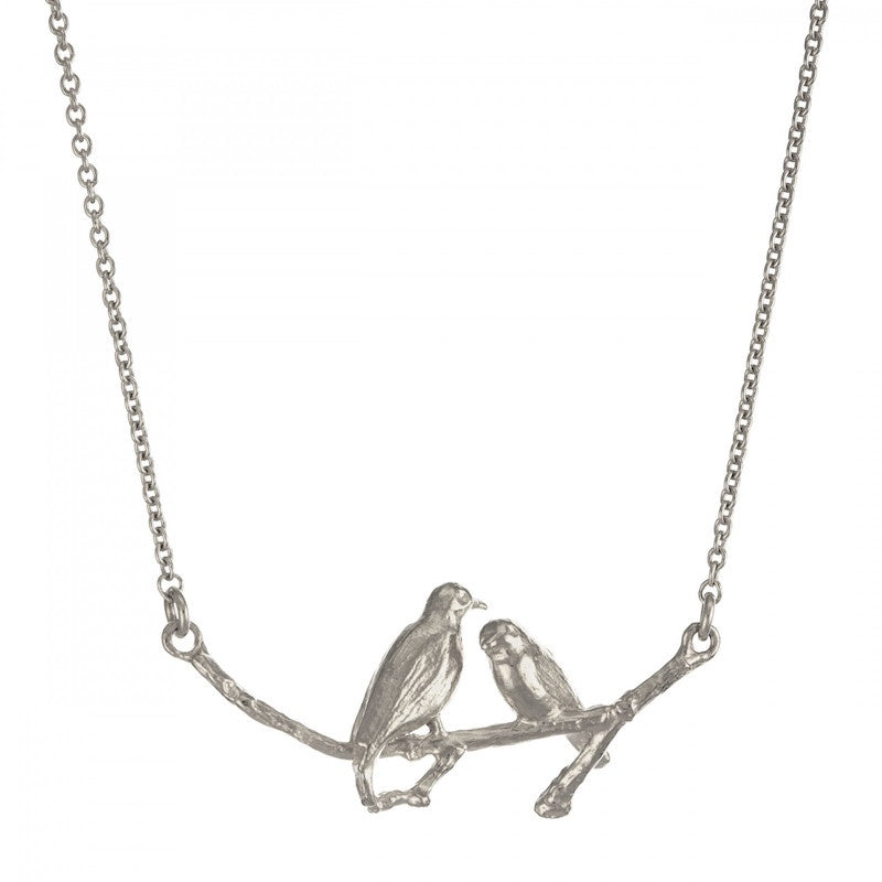 Necklace Silver Two Turtledoves