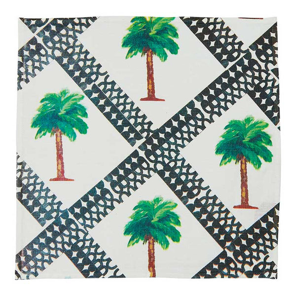 Napkin Set/6 Tiny Palms Multi