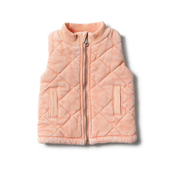 Vest Quilted Strawberry Washed Back