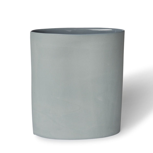 Vase Oval Large Steel