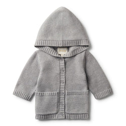 Jacket Knitted Grey Luxe