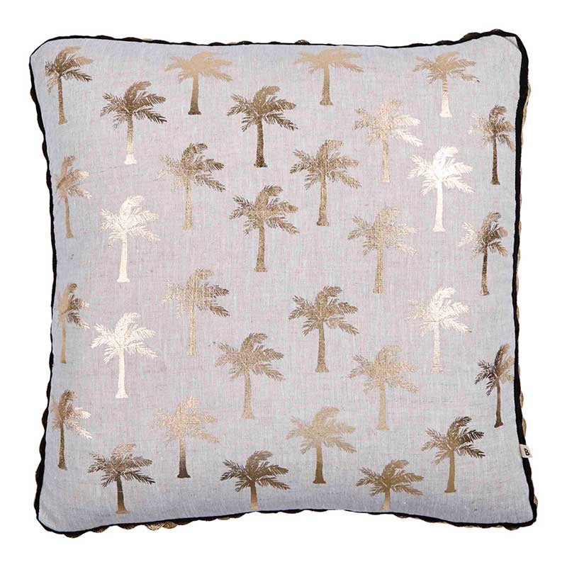 Gold Tiny Palms Cushion 50x50cm