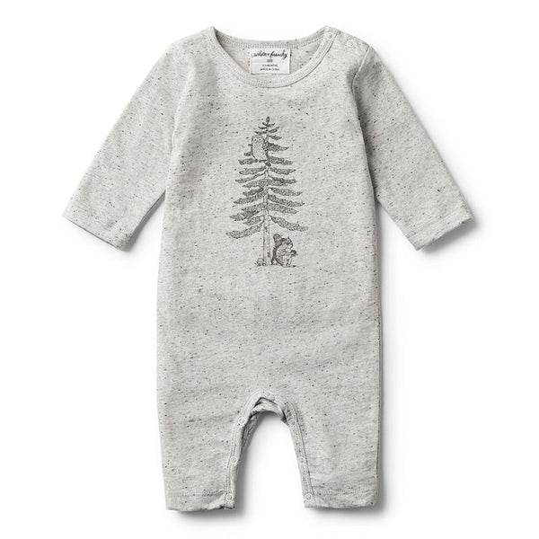 Growsuit Long Sleeve Hello Forest Melange