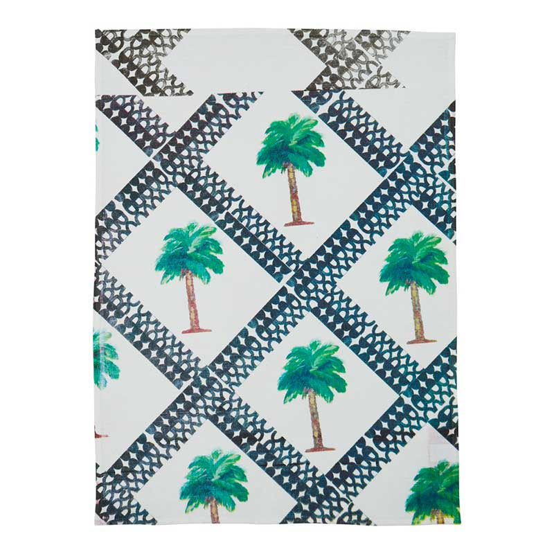 Tea Towel Tiny Palms Multi