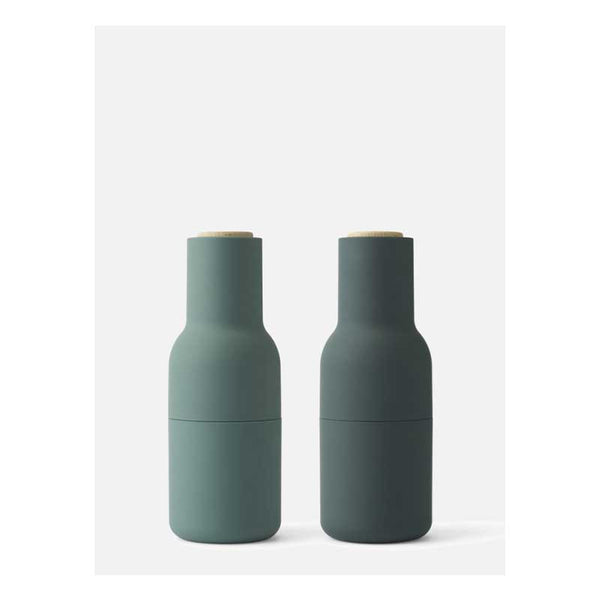 Bottle Grinder set Dark Greens/beech lid