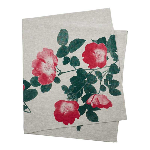 Tablecloth Large Climbing Rose Red