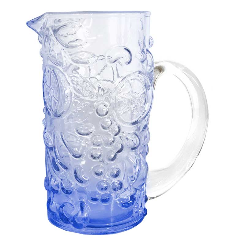 Pitcher Blue Grape Embossed
