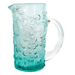 Pitcher Turquoise Grape Embossed