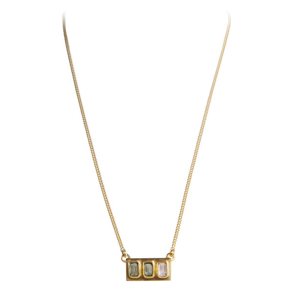 Necklace Gold Samara Tourmaline Baguette