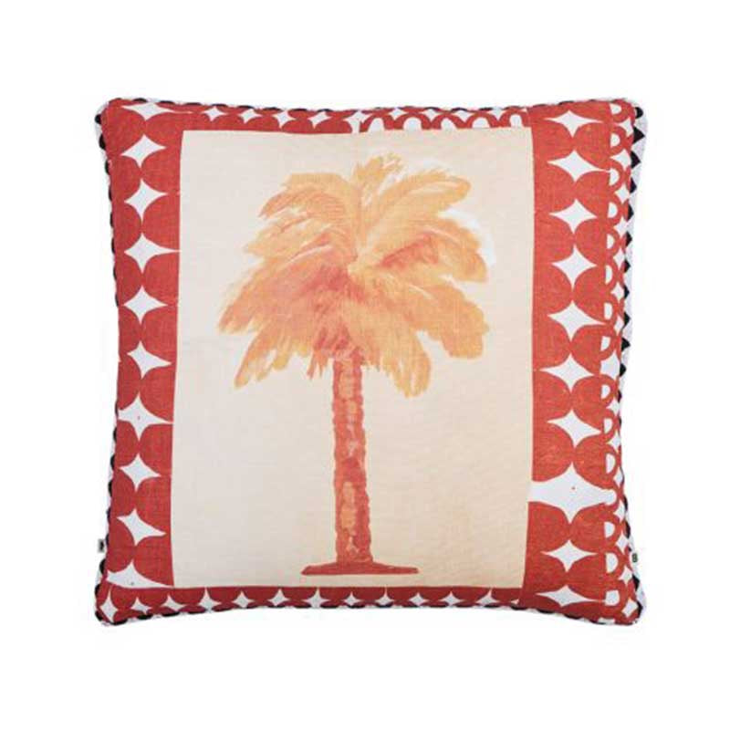 Island Palm Rust Cushion 50x50cm