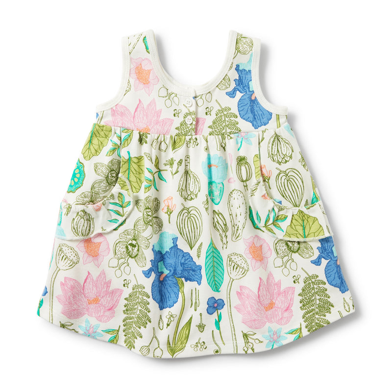 Dress Flora Ruffle Pocket