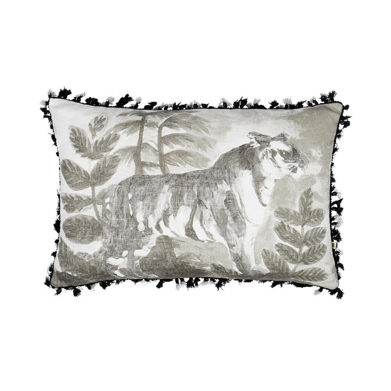 Tiger Black Cushion 60x40cm