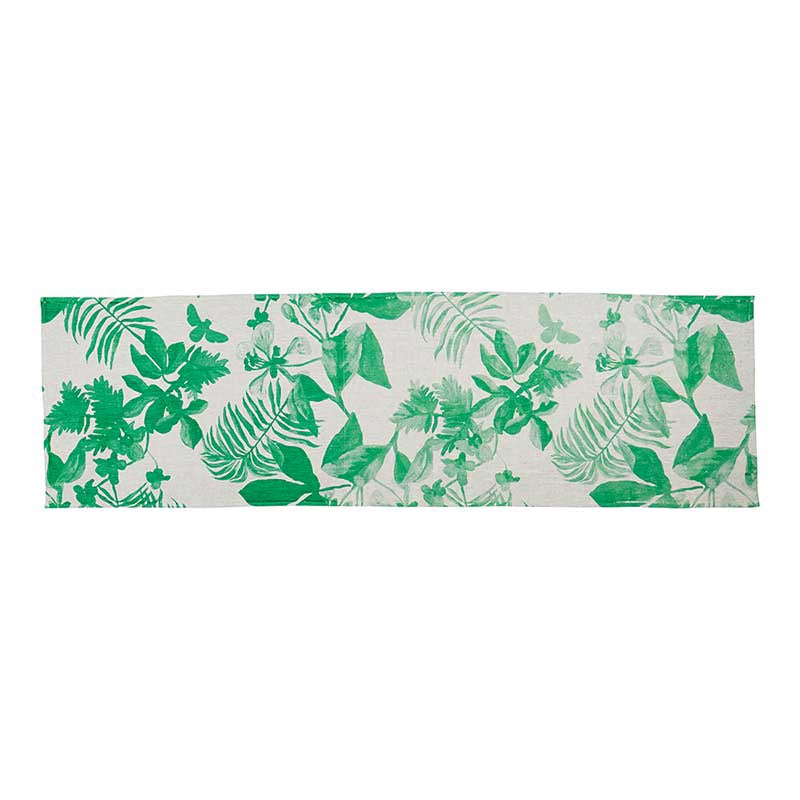 Table Runner Palms Green