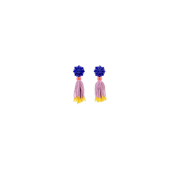 Earrings Multi Tassel St Bead