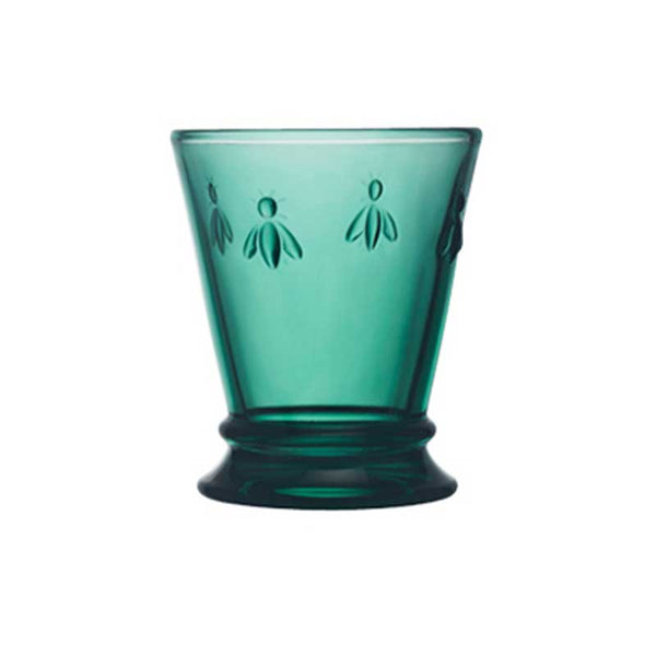 Glass Bee Tumbler Emerald