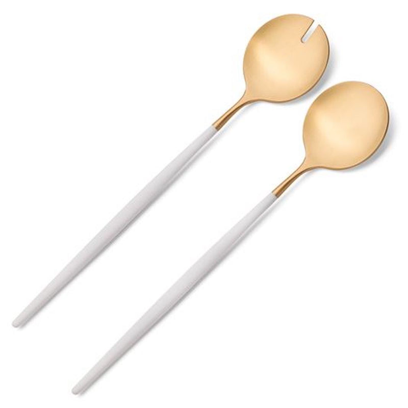 Salad Server Set White/gold Goa Cutipol
