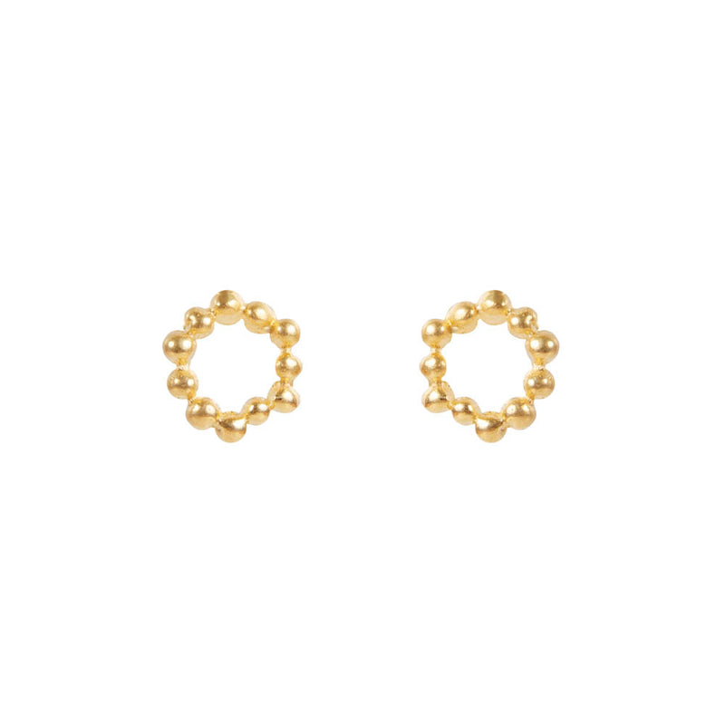 Earrings Gold Alexa Atom Studs